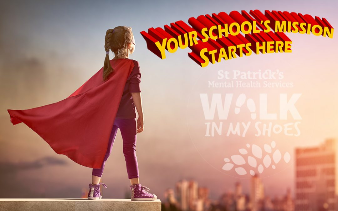 A little girl in a superhero costume - Walk In My Shoes Mission Possible school achievement competition launch image